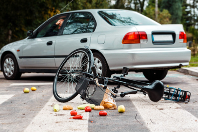 Bicycle crash in Newton, Massachusetts