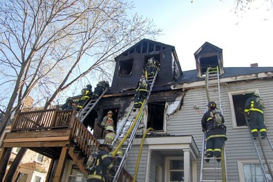 Fire caused by negligence destroys Boston apartment building